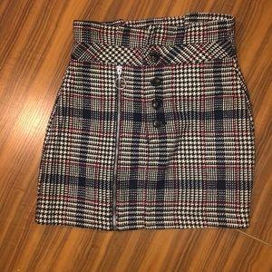 Plaid Topshop Skirt